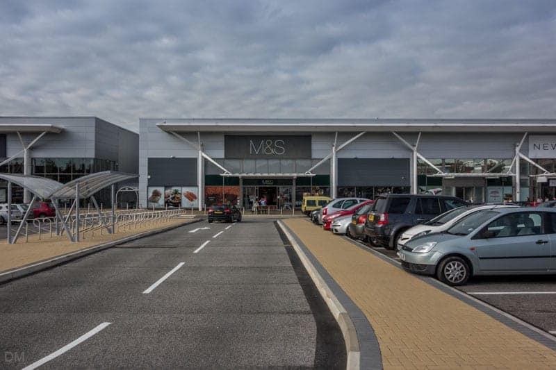 Marks and Spencer at Deepdale Shopping Park in Preston.
