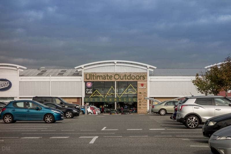Ultimate Outdoors camping store at Deepdale Shopping Park in Preston.