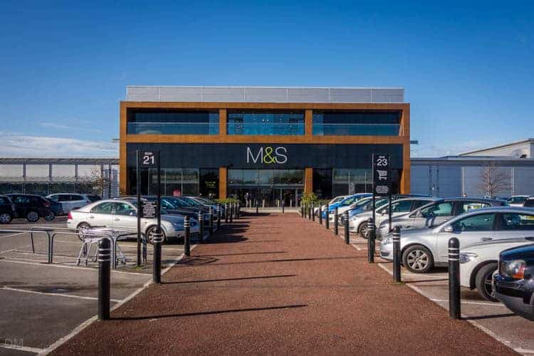 Marks and Spencer, M&S, at Gemini Retail Park in Warrington