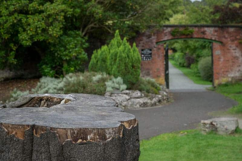 Walled garden or Walker Gardens at Haigh Country Park in Wigan.