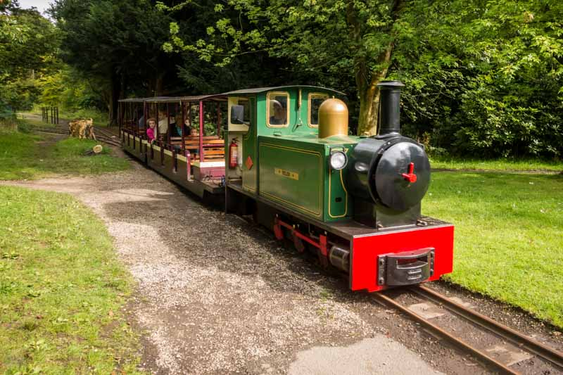 Haigh Hall Miniature Railway at Haigh Country Park in Wigan