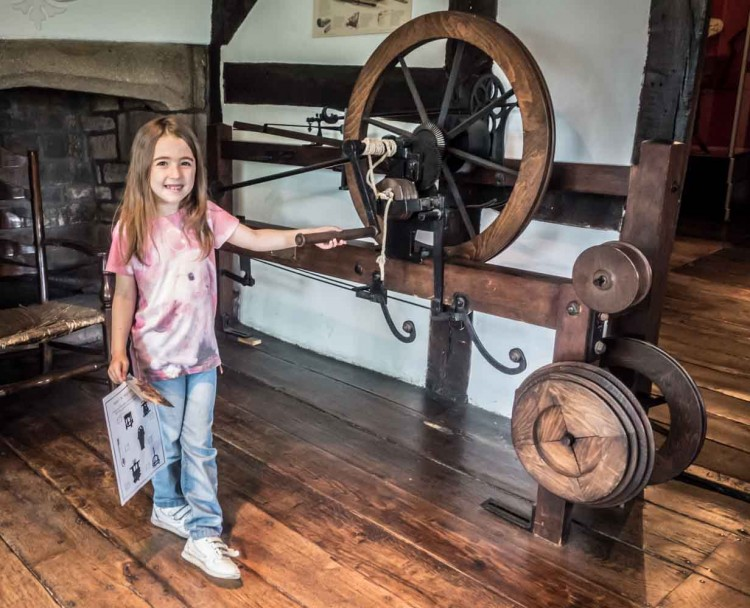Replica of the Samuel Crompton's Spinning Mule