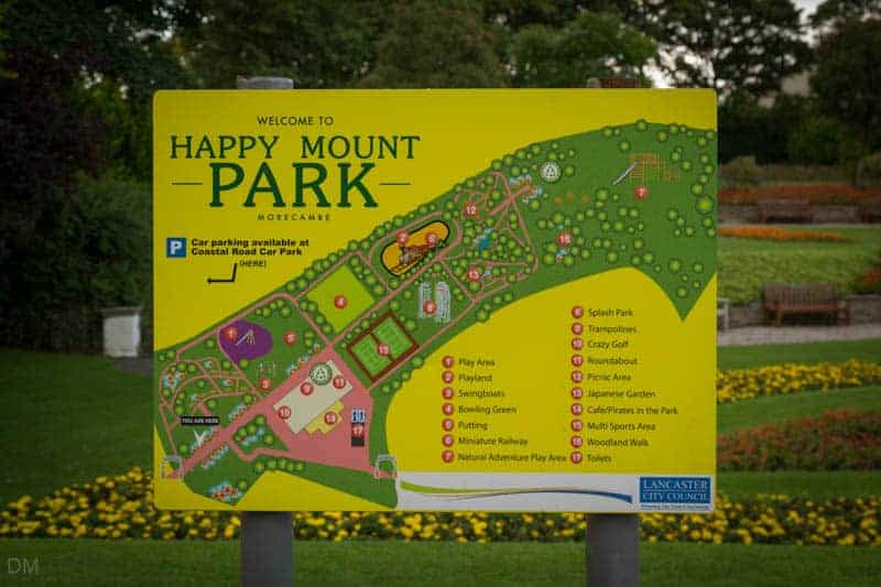 Map of Happy Mount Park in Morecambe, Lancashire