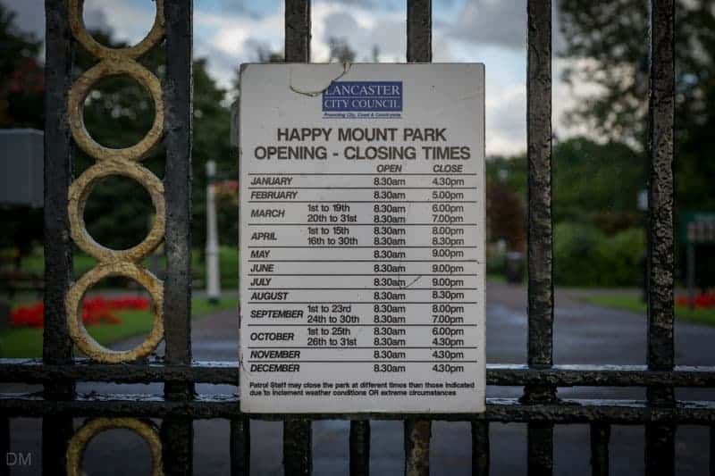 Opening times for Happy Mount Park in Morecambe