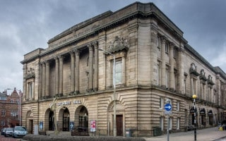 Exterior of King George's Hall in Blackburn