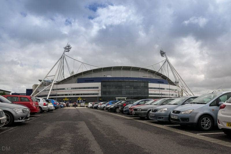 One of the car parks at the Macron Stadium in Bolton