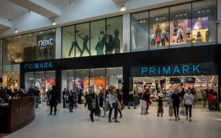 Primark and Next shops at The Mall shopping centre in Blackburn
