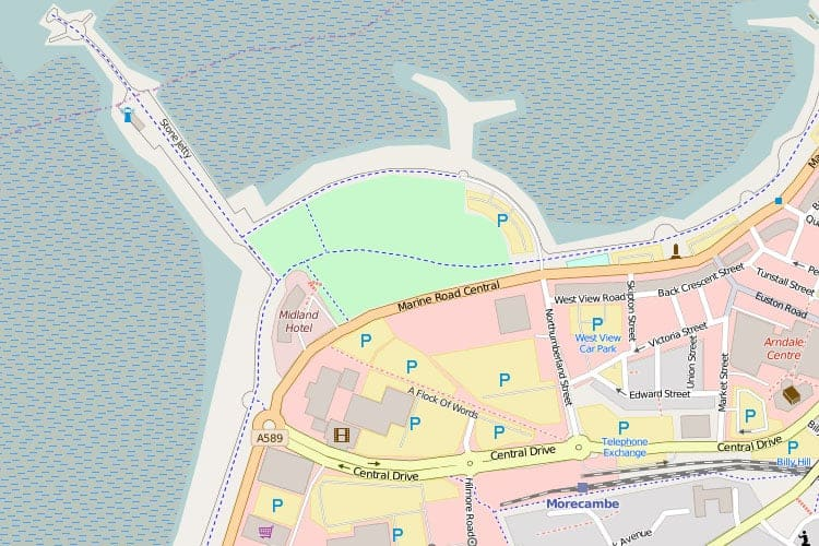 Street Map Of Morecambe