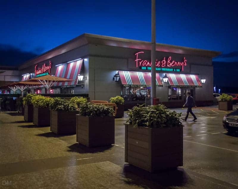 Frankie and Bennys Italian restaurant at Middlebrook in Bolton