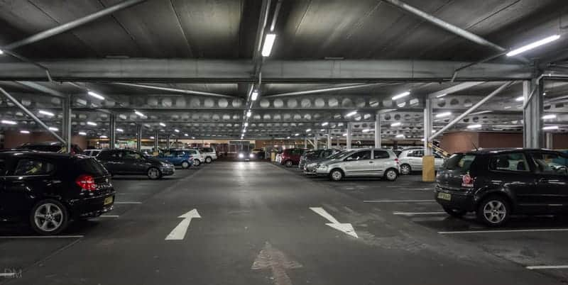 Car park at Middlebrook Retail Park
