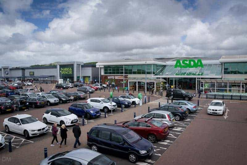 ASDA, Marks & Spencer, and Boots at Middlebrook in Bolton.
