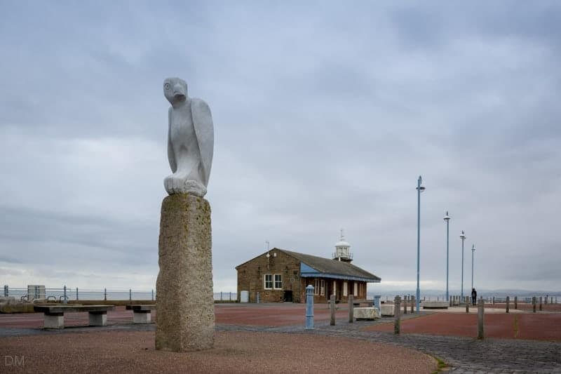 Mythical Bird sculpture by Gordon Young, Stone Jetty, Morecambe Promenade Tern Project
