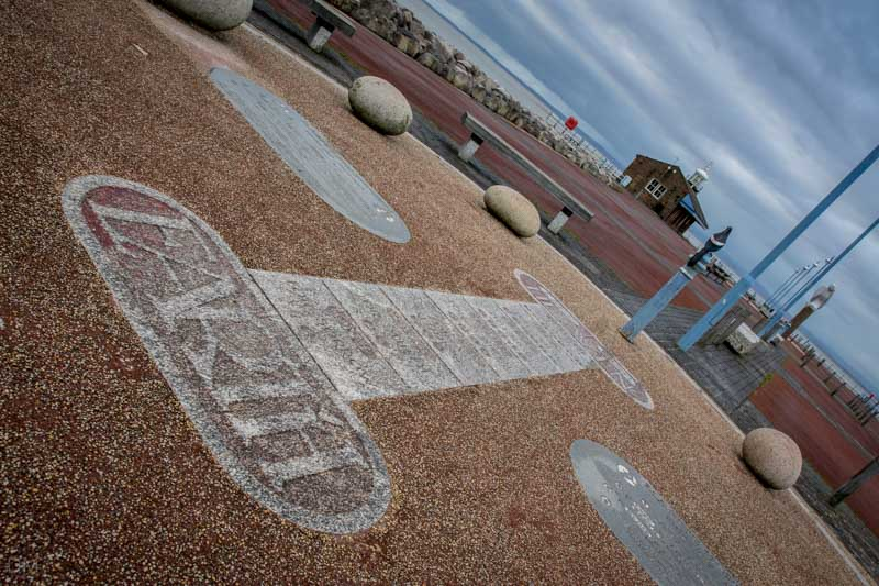 Magpie Hopscotch by Gordon Young and Russell Coleman, Stone Jetty, Morecambe Promenade
