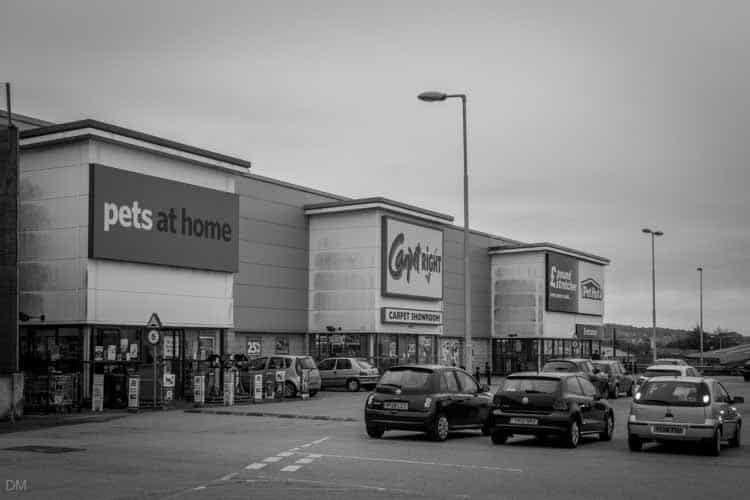 Pets at Home, Carpetright, and Poundstretcher at Nova Scotia Retail Park, Blackburn