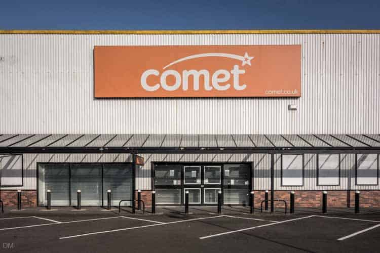 Comet store at the Peel Centre in Blackburn