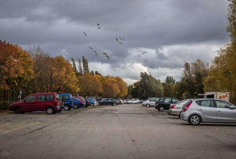 Main car park at Pennington Flash