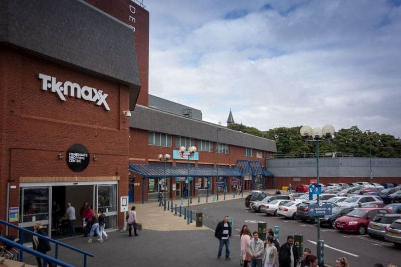 TK Maxx, Argos, and Car Park at Fishergate Shopping Centre in Preston.