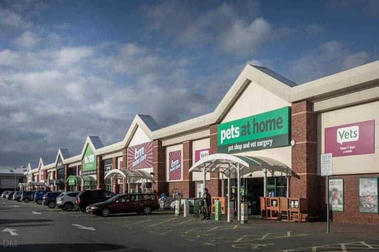 Pets at Home, B&M, Wren Kitchens at Riverside Retail Park in Warrington
