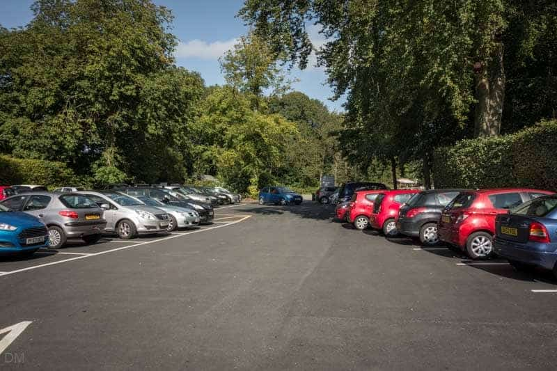 Main Car Park at Samlesbury Hall, Lancashire