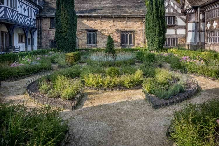 Formal garden at Smithills Hall, Bolton