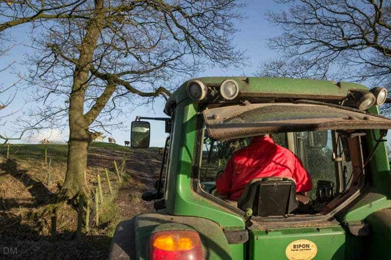 Tractor and trailer ride, Smithills Open Farm