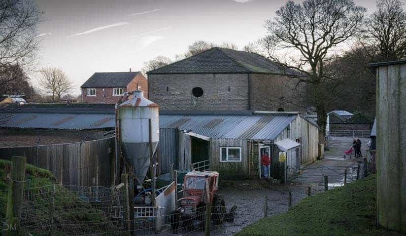 Farm buildings at Smithills Open Farm, Bolton