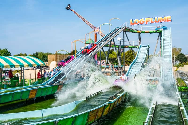 Log Flume ride at Southport Pleasureland