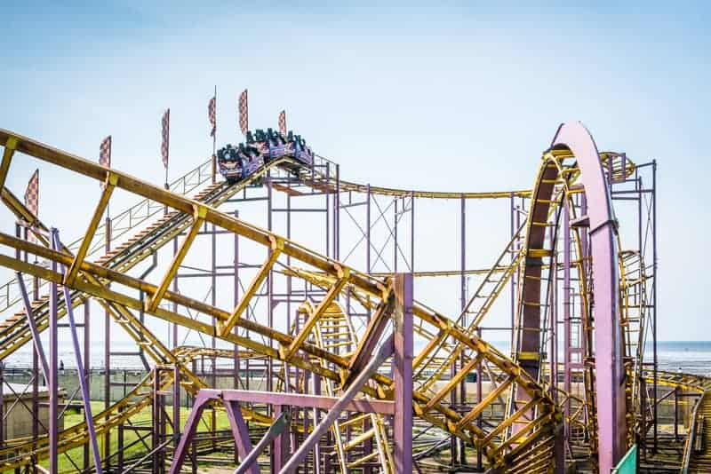 Looping Rollercoaster at Southport Pleasureland