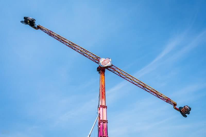 Vertigo ride at Southport Pleasureland