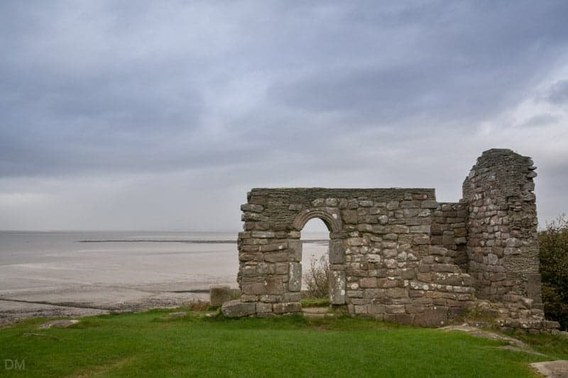 View of St Patrick's Chapel and Morecambe Bay