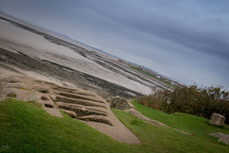 Stone graves at St Patrick's Chapel in Heysham