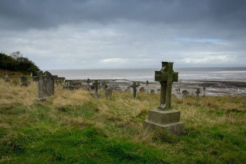 View of Morecambe Bay from St Peter's Church in Heysham, Lancashire