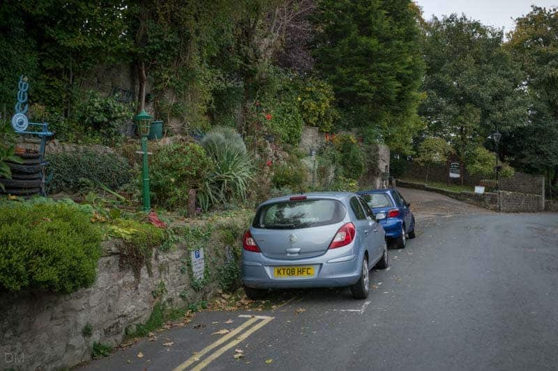 Parking on Main Street in Heysham, near St Peter's Church