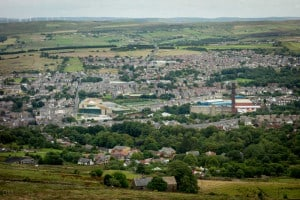 View of Darwen from Jubilee Tower