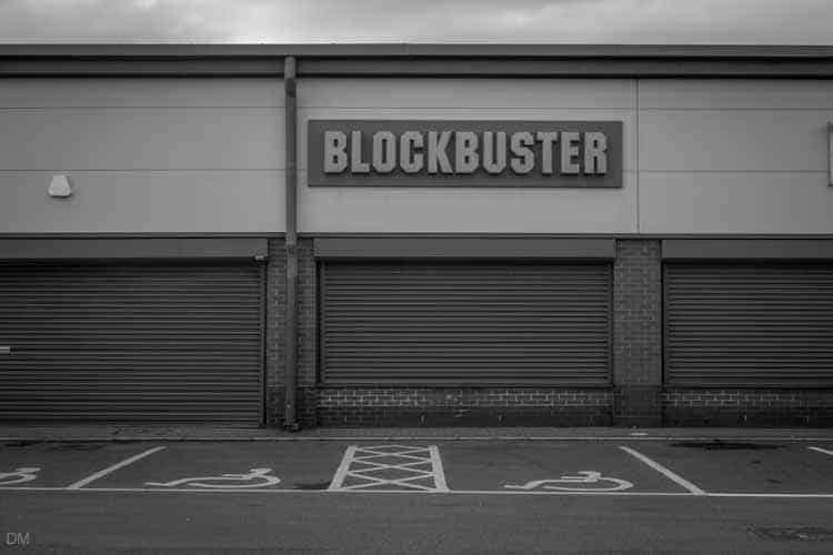 Blockbuster at the Townsmoor Retail Park in Blackburn
