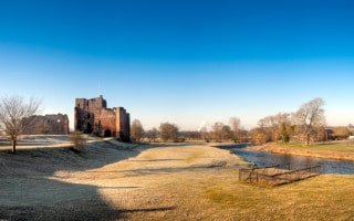 Brougham Castle and the River Eamont near Penrith, Cumbria