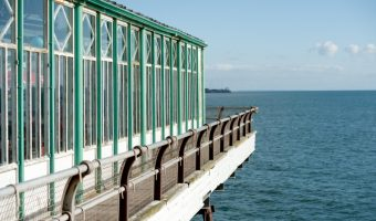 View of the end of the North Pier in Blackpool, Lancashire
