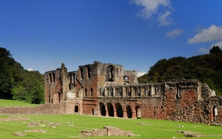 View of the ruins of Furness Abbey