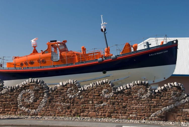 View of the lifeboat at the Dock Museum in Barrow-in-Furness