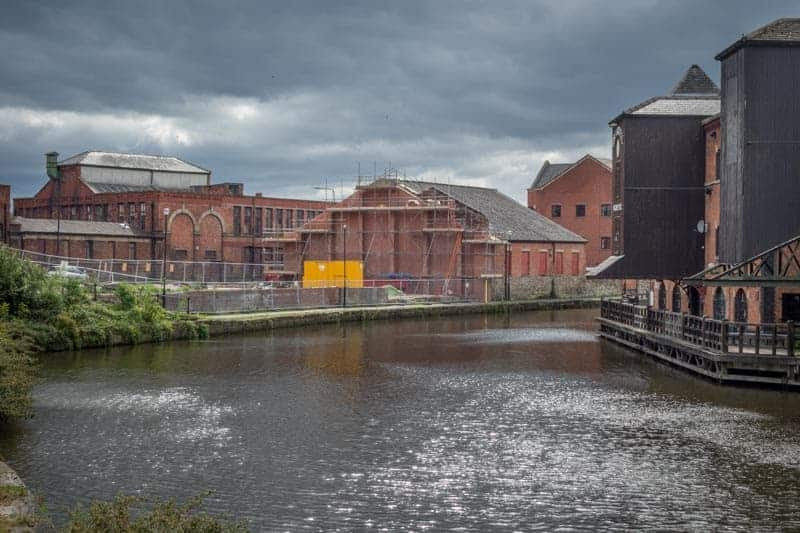 Site of the Wigan Pier nightclub - May 2015