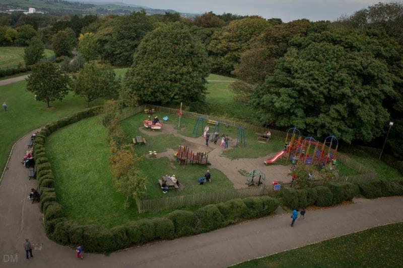Playground at Williamson Park in Lancaster.