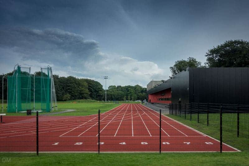 Running track at Witton Park Arena