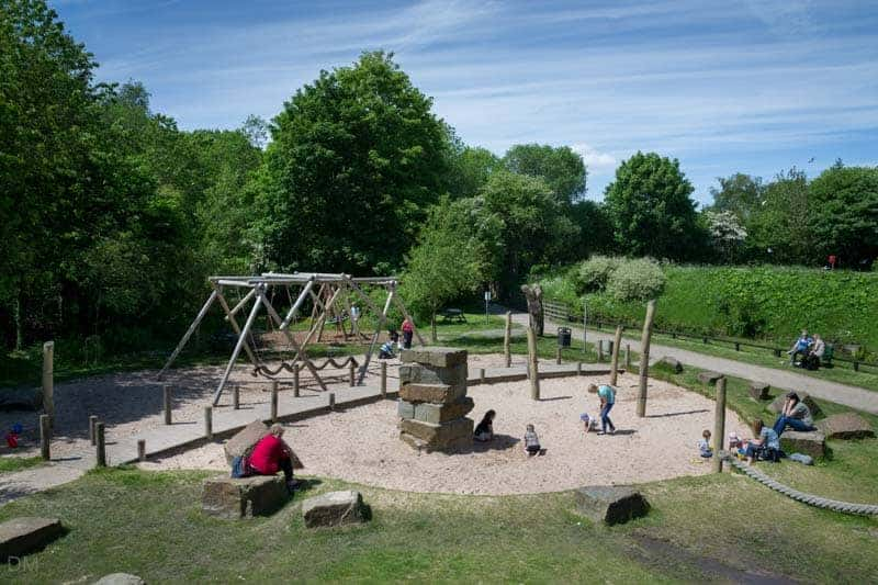 Playground at Yarrow Valley Country Park near Chorley, Lancashire