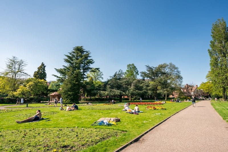 Lawns at Grosvenor Park, Chester