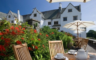 The terrace at Blackwell, the Arts and Crafts House, Windermere