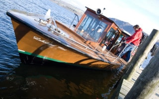 Lakeland Mist, one of the Keswick Launch cruise boats on Derwent Water in the Lake District