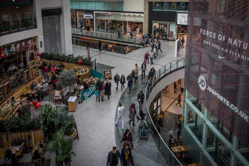 Winter Garden at Manchester Arndale - Bella Italia, Bose, and Waterstones