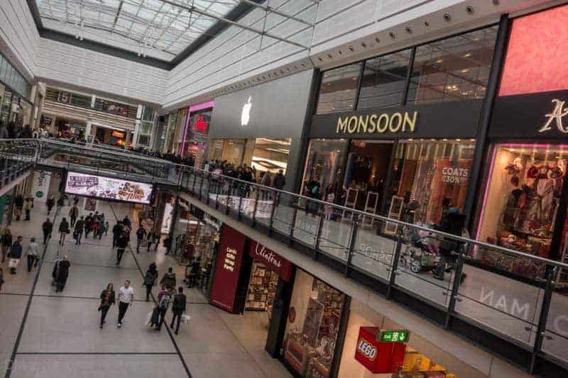 Manchester Arndale - Disney, Apple, Monsoon, Superdrug, Clintons, and Lego