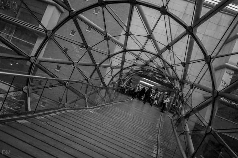 Footbridge from Manchester Arndale to New Cathedral Street
