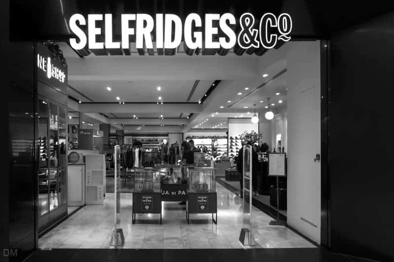 Selfridges department store in Manchester city centre